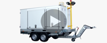Complete mobile heliport on transportable trailer.